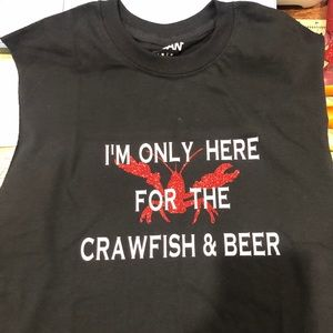 Crawfish and Beer custom made muscle tee